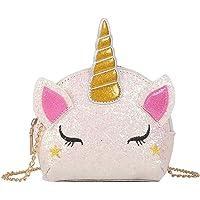 INTVN Umhängetasche Einhorn Geschenk für Mädchen Schultertasche,Mädchen Kindertasche,Cartoon Tasche,Umhängetasche…