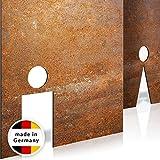 INOXSIGN Vintage WC-Schilder Set T03R – Selbstklebend – Retro Toilettenschilder – klar erkennbares Design – werkzeuglose Montage – beinhaltet Herren- & Damen Kloschild – Shabby chic – Made in Germany