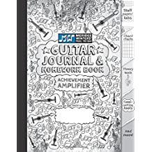 Guitar Journal and Homework Book (Black): TAB paper, Staff Paper, Manuscript Paper, Theory Tools, Practice Planner, Notebook Paper, Chord Charts, Goal ... Winters Music Method (8.5x11) (72 pages)