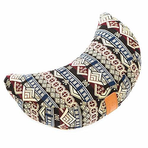 #DoYourYoga Meditationskissen/Yogakissen in Halbmond-Form Amal - gefüllt mit Bio-Dinkelspelz (kbA) - waschbarer Bezug/hoher Sitzkomfort - ideal auch als Sitzkissen & Wohnkissen NEW STYLE 5