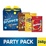 Party Poppers Assorted Chocolates and Candy Diwali Gift Pack (M&M's, Skittles)- 268g
