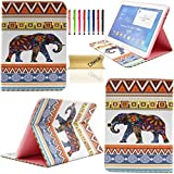 T530 Case,Galaxy Tab 4 10.1 Case, Dteck(TM) Ultra Slim Colorful Painting Design [High Quality Leather] Flip Stand Case Cover for Samsung Galaxy Tab 4 10.1 SM-T530 T531 T535 (01 Baby Elephant)