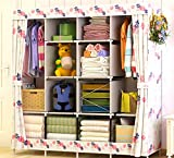 Best Home Double Rod Portable Closet Organizers - NB Clothes closet wardrobe portable diy modular cube Review