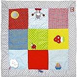 Spiegelburg 14501 Krabbeldecke mit Spielelementen BabyGlück (ca. 100 x 100 cm)