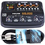 NUX MG-200 Multi-Effektgerät mit Looper und Drum-Machine + KEEPDRUM Gitarrenkabel 6m