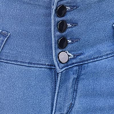 Kritika World Skinny Fit Denim Jeans for Womens Or Girls(4 Button)