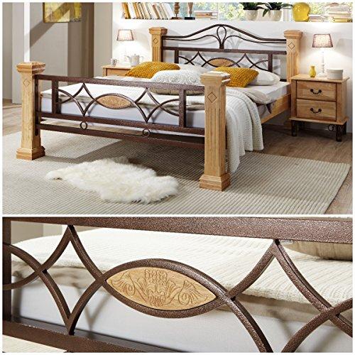 Massiv Holz Bett ROM Holzbett Natur Farbe in Buche 140x200cm 140 Ehebett Doppelbett