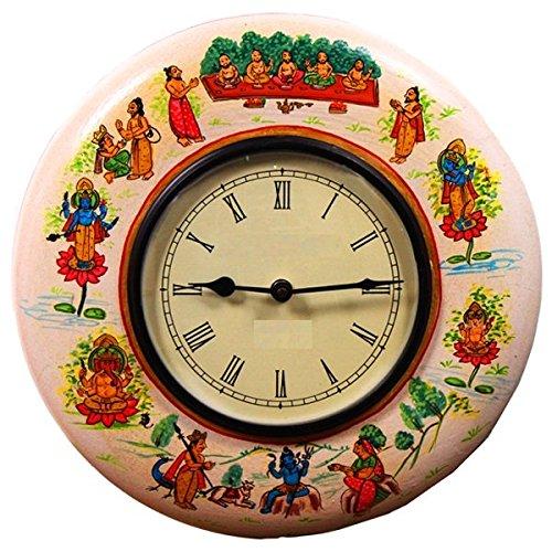 purpledip seltene Sammlung Hindu Mythologie Wanduhr für Wohnzimmer 30,5x 30,5cm (clock86)