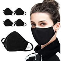 5 Pack Protect Cover Bandana Balaclavas | Cotton Anti-dust Mouth Cover Face Mask | For Men & Women | 2-Layer Reusable…
