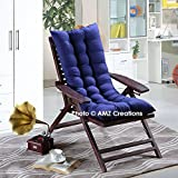 #2: AMZ Premium Microfibre Soft Home Cotton Cushion Long Chair Pad Cushion for Indoor/Outdoor Home Garden Decor (Royal Blue,48 x 18 inches,Set of 1)