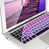kwmobile protector de silicona para el teclado QWERTZ para Apple MacBook Air 13''/ Pro Retina 13''/ 15'' en rosa fucsia violeta