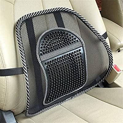 Golopoo Hot! Car Seat Office Chair Back Cushion Back Lumbar Massage Black Mesh Ventilate Cushion Pad Pain Relief Seat Posture Corrector - low-cost UK light store.
