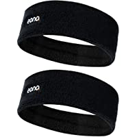 Amazon Brand - Eono Elastic Sports Headband Unisex High Absorption Sweat Band Hair Band for Running, Fitness, Tennis…