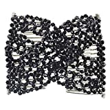 Magic Beads Double Women/Ladies Hair Clip Stretchy Hair Combs Clips (Style 3 Black)