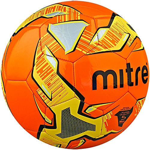 Mitre Trainingsfußball Impel, Orange/Schwarz/Gelb, 5, BB1052