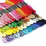 Fili da ricamo, kit di filo da cucito arcobaleno ANG per punto croce, decorazione artigianale, 50 pezzi