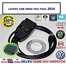 VCDS VAGCOM 12.12.3a HEX + CAN Diagnostic Cable For VW Audi Seat Skoda, [Importado de UK]