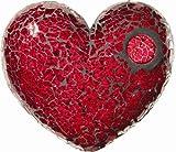 Safety Mosaik Platte Eisglas Rot 15x20cm