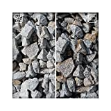 Granit Splitt Zierkies Hellgrau 32/63 Kiesel Garten Deko Granitsplitt 25 kg Sack