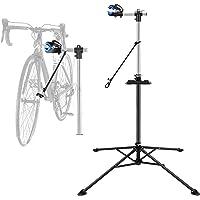 Support de réparation vélo, Pied d'atelier pour vélos Bicyclette VTT, Hateur Réglable Pince de Serrage, Pivote à 360…