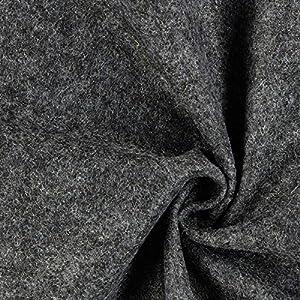 Fabulous Fabrics Filzstoff dunkelgrau, 1 mm dick, 90 cm breit - Filz zum Nähen und Basteln von Taschen, Tischdeko, Filzkörbe und Wohnaccessoires - Meterware ab 0,5m
