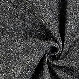 Fabulous Fabrics Filzstoff dunkelgrau, 1 mm dick, 90 cm breit – Filz zum Nähen und Basteln von Taschen, Tischdeko, Filzkörbe und Wohnaccessoires - Meterware ab 0,5m