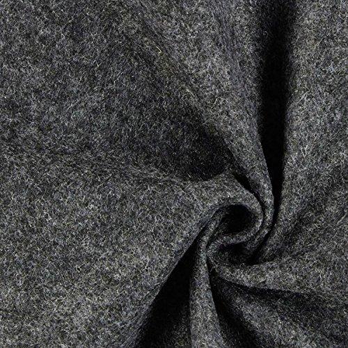 Unbekannt Filz 90cm/1mm stark, 50 dunkelgrau — Meterware ab 0,5 m — zum Nähen von Taschen, Accessoires und Kopfbedeckungen
