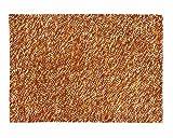 Sukhi Hiran: Gefilzte Wolle, Teppich, Orange, Gelb, Weiß, Braun, Handarbeit in Indien (170cm x 240cm / 5' 6.9'' x 7' 10.4'')