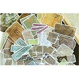 Falary Lot de 60 Feuilles Rétro Stickers Bullet Journal Accessoires Gommettes Autocollants pour Scrapbooking Loisirs Creatifs