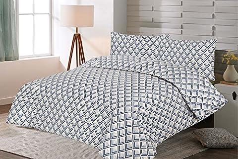 JaaZ Textile All Sizes 100% Egyptian Cotton CLEVRON Printed Bedding Duvet Cover Sets. (Single)