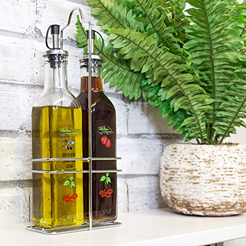set-of-250ml-glass-oil-vinegar-drizzlers-with-chrome-holder