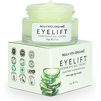 Bella Vita Organic EyeLift Under Eye Cream Gel for Dark Circles, Puffy Eyes, Wrinkles & Removal Of Fine Lines for Women…