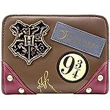 Harry Potter Insigne de Hogwarts Ollivanders Marron Portefeuille