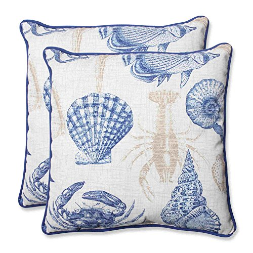 PERFECT PILLOW Kissen Ideal Outdoor Sealife Marine Überwurf Kissen, 47 cm, Set von 2