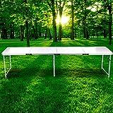 begorey alluminio pieghevole tavolo pieghevole Tavolo da picnic 238.5x 60cm leggero giunto Bar tavolo da campeggio pieghevole da tavolo