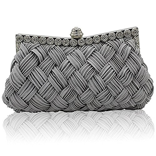 RainRR , Damen Clutch Gr. One size, grau (Jeweled Handtasche Damen)