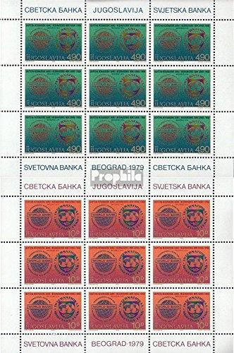 Jugoslawien 1802-1803 Kleinbögen (kompl.Ausg.) 1979 Weltbank (Briefmarken für Sammler)