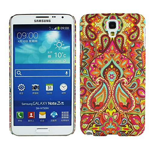 Heartly Aztec Tribal Art Printed Design Retro Color Armor Hard Bumper Back Case Cover For Samsung Galaxy Note 3 Neo N7500 N7505 - Colorful Mehndi  available at amazon for Rs.249