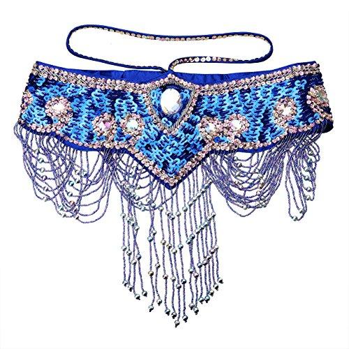 Dance Fairy Bauchtanz Hüfttuch Gürtel mit Verstellbaren Klettverschlüssen Handgefertigt (Dance Kostüme Bh Strass)