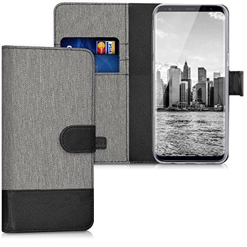kwmobile Samsung Galaxy S8 Hülle - Kunstleder Wallet Case für Samsung Galaxy S8 mit Kartenfächern und Stand Flip Stand