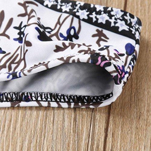 Italily - Women Floral Nappa Push-Up Bandage Swimsuit Bikini Set Nero