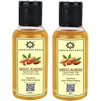 Continent Spice khadi sweet almond oil 50 ml × 2, for all general purpose, Hair growth oil & baby Massage oil (badam oil)