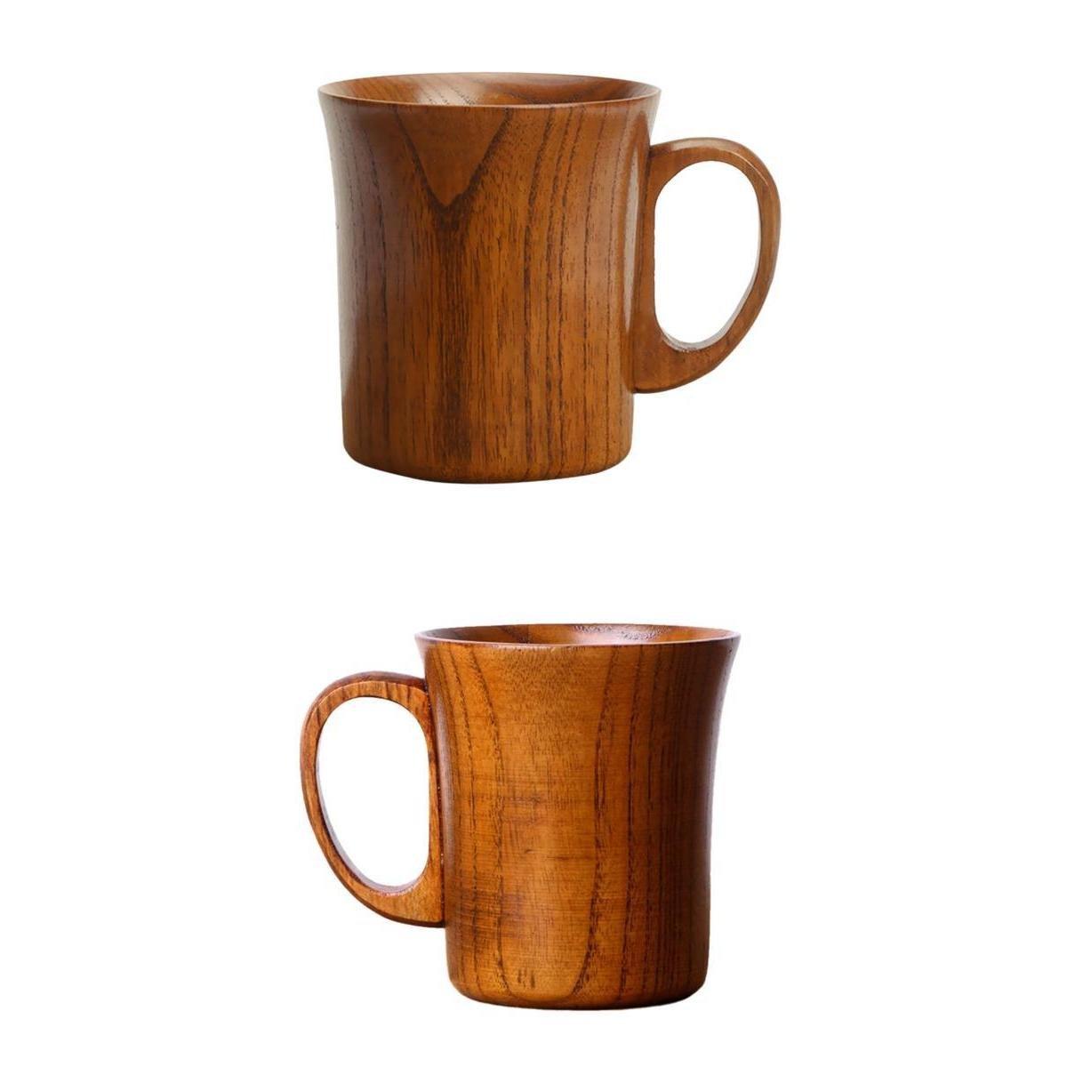 MagiDeal 2pz Tazza In Legno Bicchierino Di Birra Tè Caffè 10cm Artiginato