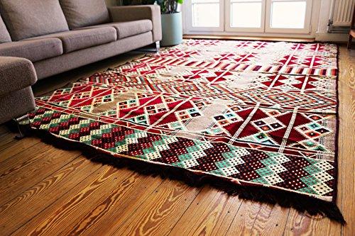 200 X 300 cm alfombra oriental, Kelim, Kilim, Carpet, Suelo, Suelo, Nuevo Damaskunst S 1-6-21