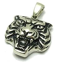 Ciondolo in argento solido 925 Tigre PE001059 Empress