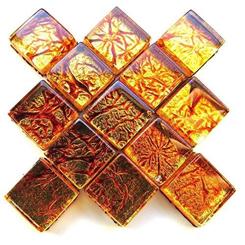 Craft Mosaik Fliesen-10mm-50g Folie-Kupfer - Kupfer-mosaik-glas