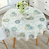 Nordic Small Table Mat Big Round Small Fresh Round Table Tablecloth Fabric Waterproof Anti-Ironing Oil Free Washing Tablecloth Household