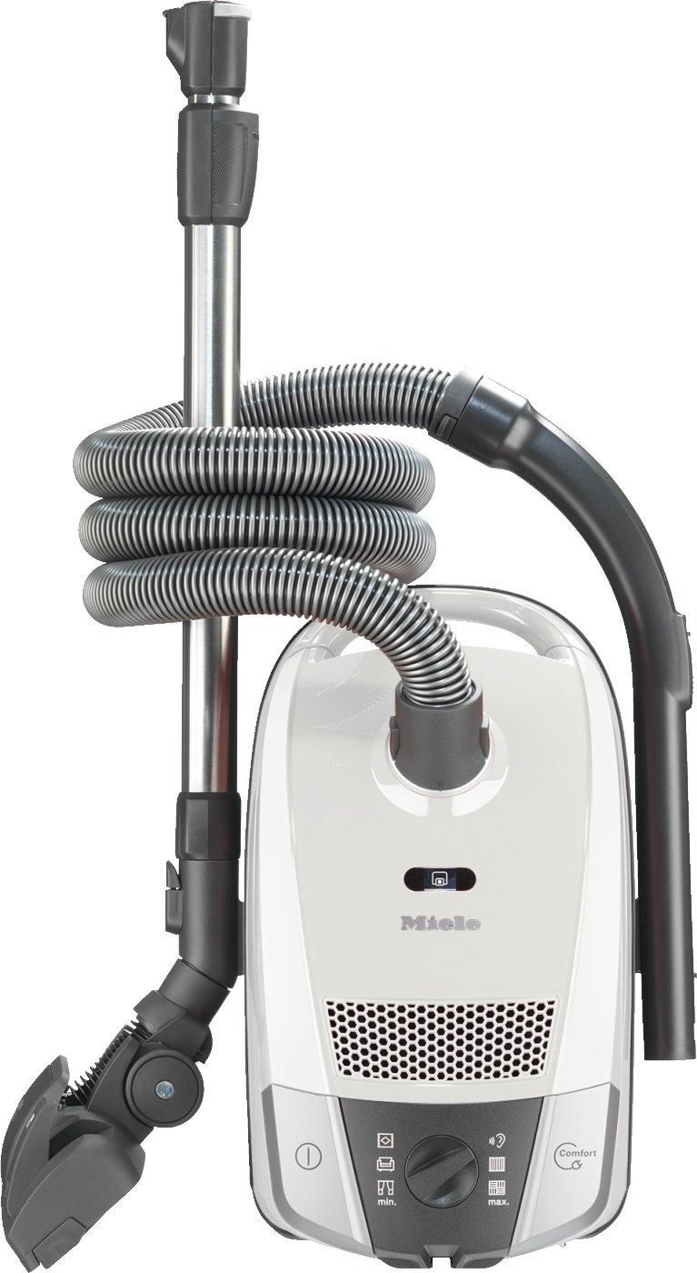 Miele Compact C2 Allergy EcoLine Bodenstaubsauger (mit Beutel, 3, 5 Liter Staubbbeutelvolumen, 550 Watt, 11 m Aktionsradius, inkl. HEPA-Filter für Allergiker) weiß