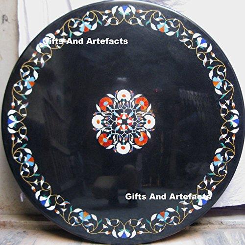 Gifts And Artefacts 152,4cm Durchmesser Schwarz Marmor Konferenz Tisch Top mit Büro Deko...