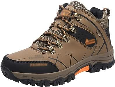 Rengzun Scarpe da Escursionismo da Uomo Sportive All'aperto Scarpe da Trekking Antiscivolo Traspiranti Calzature da Escursionismo Autunno Inverno